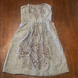 Fossil strapless denim dress.